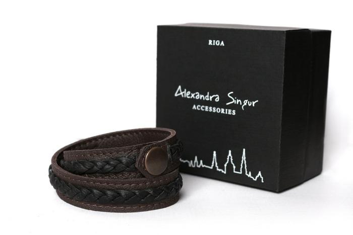 мужские кожаные браслеты от Alexandra Singur латвия